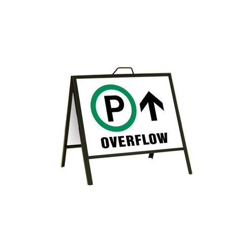 Parking Overflow Ahead 24x18