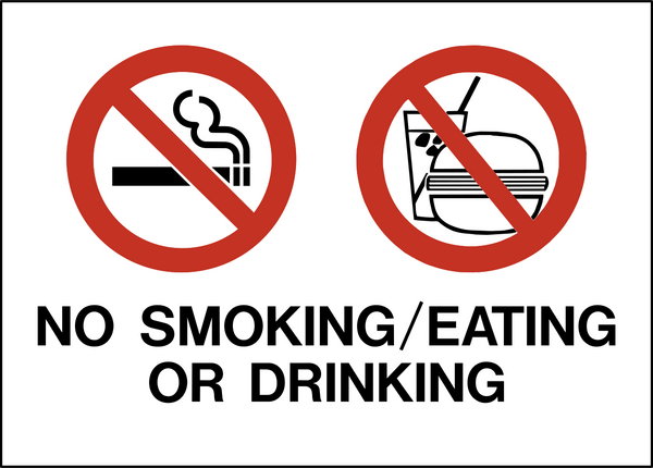 AG-3 No Smoking Eating Drinking