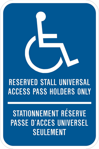 Handicap Reserved Stall Bilingual