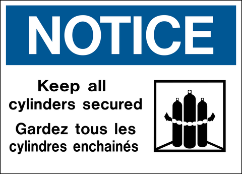 Notice - Cylinders Secured Bilingual