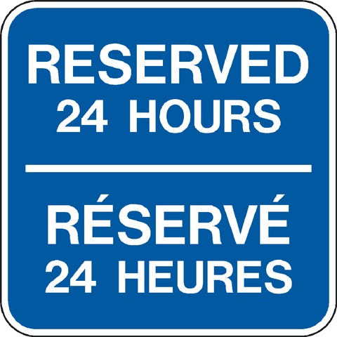 Reserved 24 Hours Bilingual