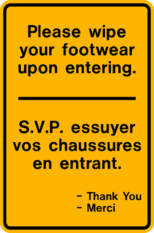 Wipe your Footwear Bilingual