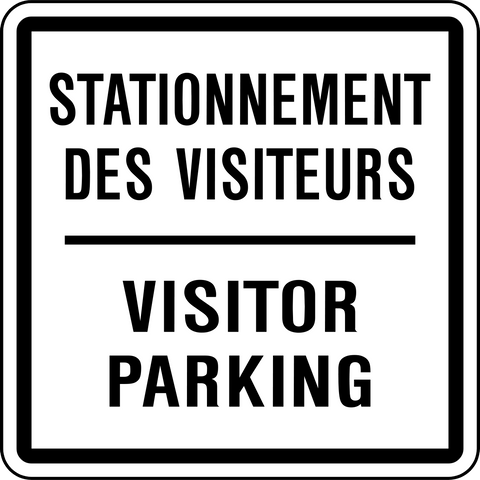 Visitor Parking Bilingual