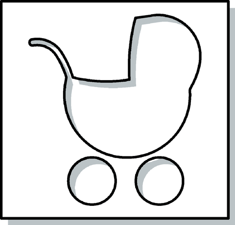 Baby Carriage Stencil