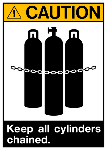 Caution - Cylinders
