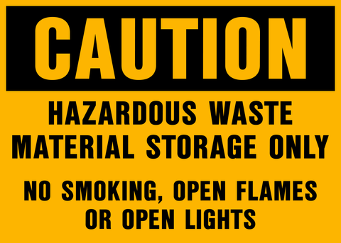 Caution - Hazardous Waste