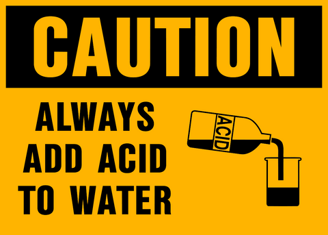 Caution - Acid