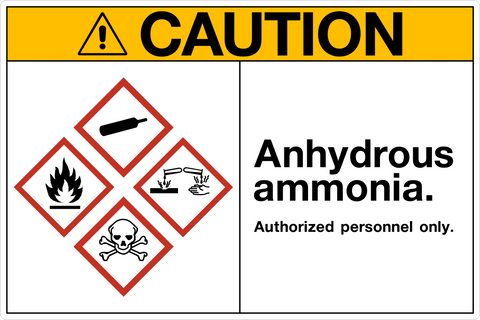 Caution - Anhydrous Ammonia