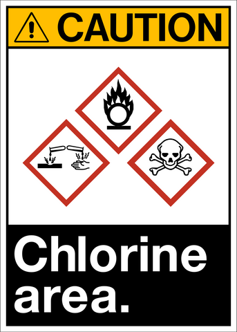 Caution - Chlorine Area