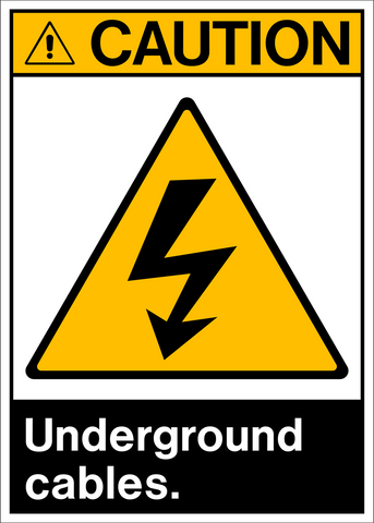 Electrical Amp Gas Warnings Western Safety Sign