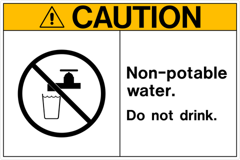 Caution - Non-Potable Water