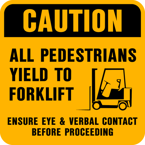 Caution - Forklift C