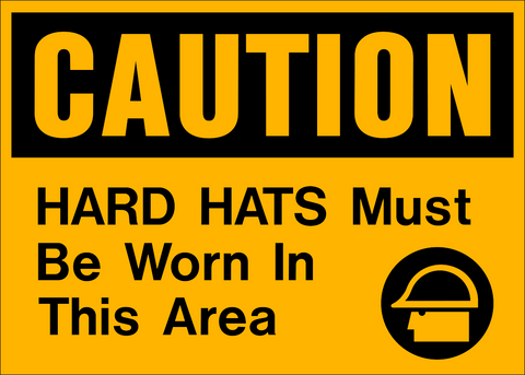 Caution - Head Protection A