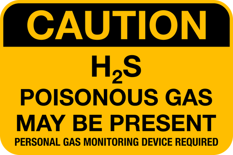 Caution - H2S Gas