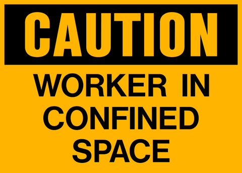 Caution - Confined Space B