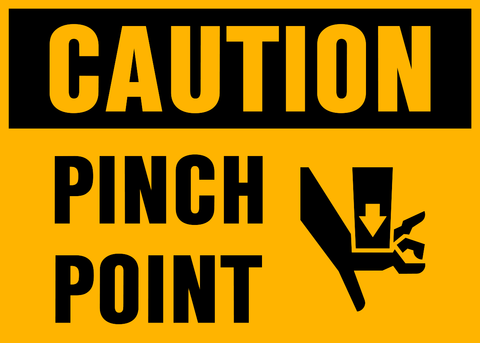 Caution - Pinch Point