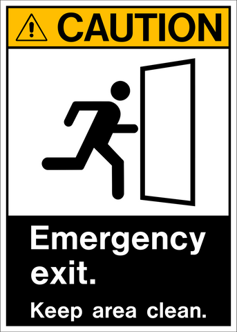 Caution - Emergency Exit