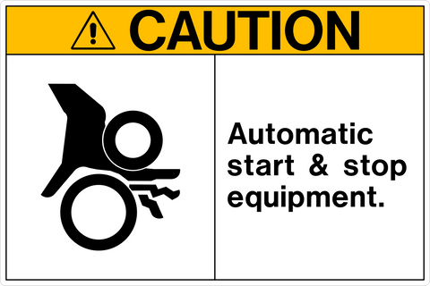 Caution - Automatic Start & Stop