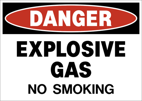 Danger - Explosives Gas