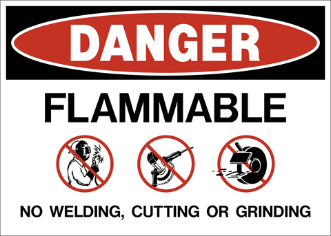 Danger - Flammable No Welding