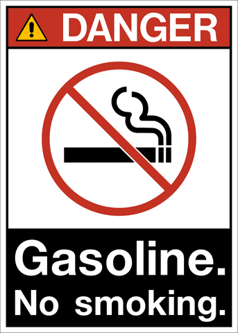 Gasoline No Smoking