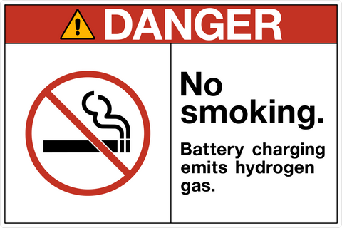 Danger - No Smoking Battery Charging