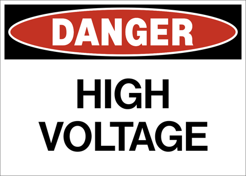 Danger - High Voltage A
