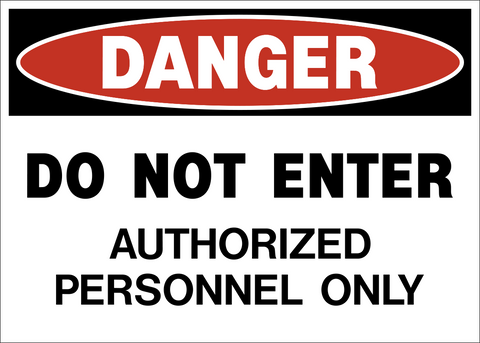 Danger - Do Not Enter APO