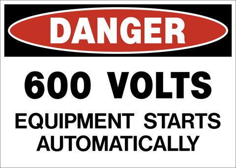 Danger - 600 Volts