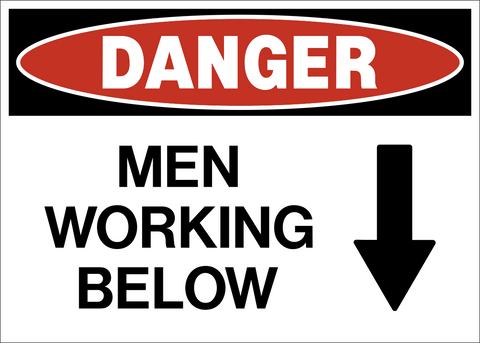 Danger - Men Working Below