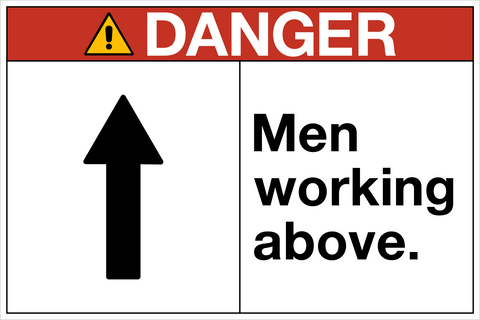 Danger tagged filter by keywordmen working western safety sign danger men working above a sciox Gallery