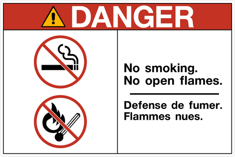 Danger - No Smoking Bilingual A