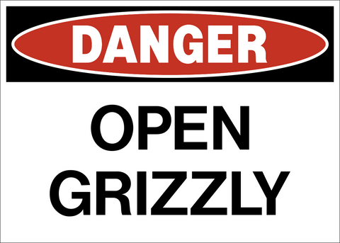 Danger - Open Grizzly