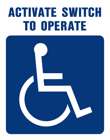 Activate Switch to Operate with wheelchair graphic