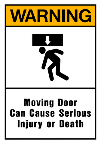 Warning - Moving Door