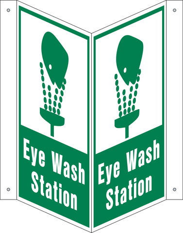 Eye Wash Station - V-Shape
