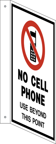 No Cell Phone - L-Shape