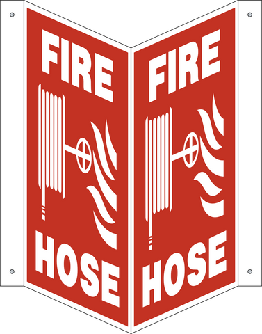 Fire Hose with pictogram - V-Shape