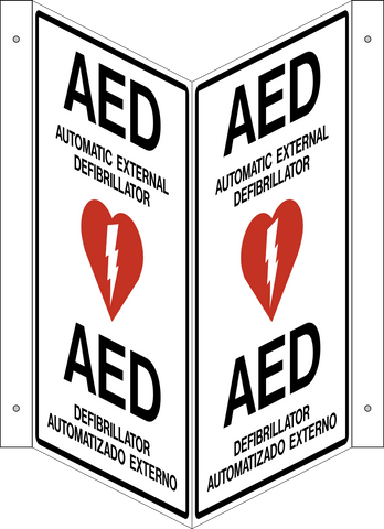 AED - V Shape Bilingual Spanish