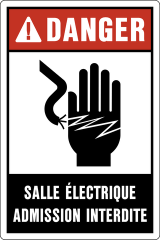 Danger - Electrical Hazard French