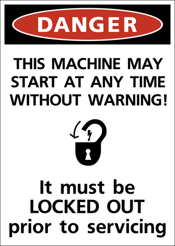 Danger - Lock Out Machine