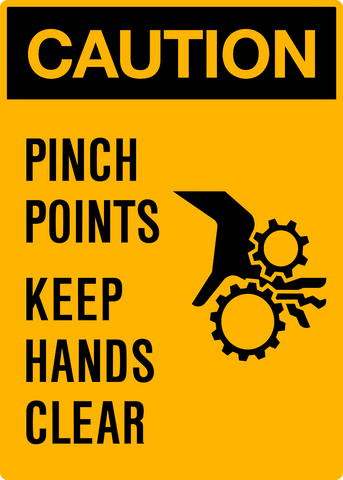 Caution - Pinch Points Keep Hands Clear