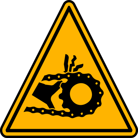 Caution - Chain Moving