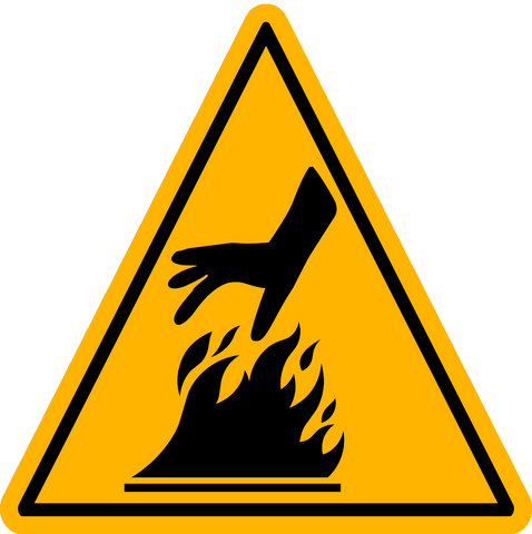 Caution - Hot Flame Surface