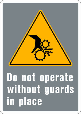 Caution - Guard Use