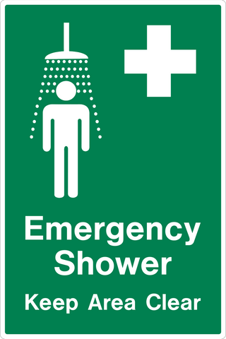 Emergency Shower Keep Area Clear