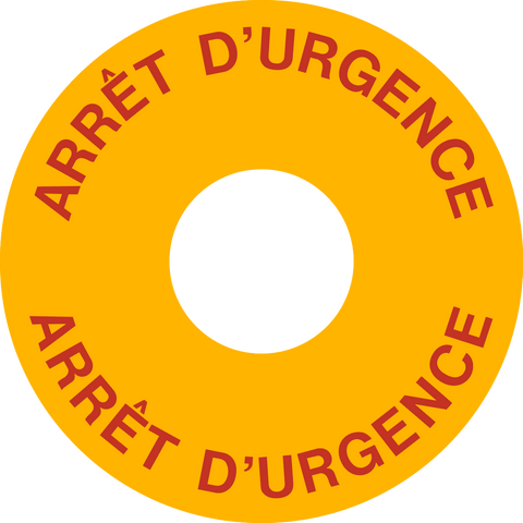 Emergency Stop Button - French