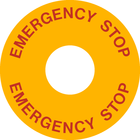 Emergency Stop Button - English