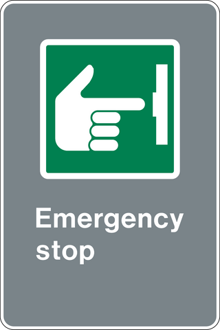 Emergency Stop with Pictogram