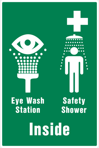 Emergency Shower/Eye Wash Inside